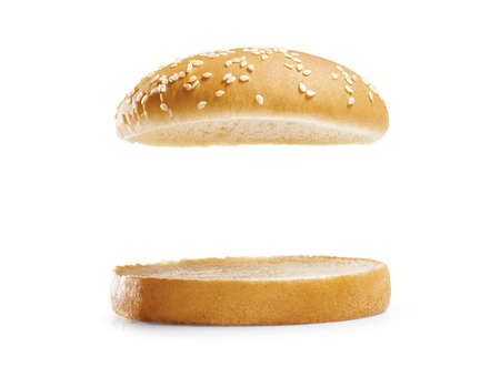 Photo pour Burger bread isolated on white background. - image libre de droit