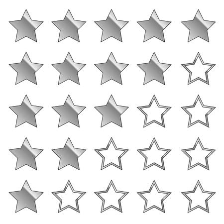 Illustration pour silver stars feedback set vector illustration EPS10 - image libre de droit