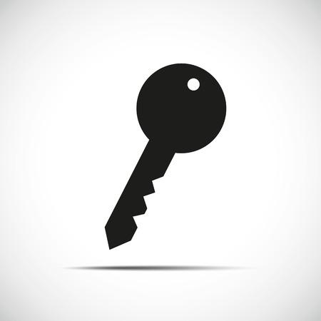 Illustration for black simple key icon vector illustration EPS10 - Royalty Free Image