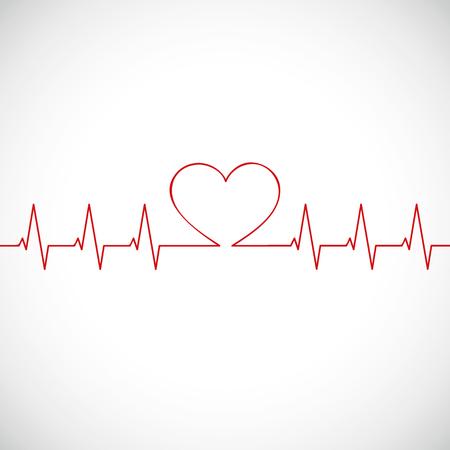 Ilustración de medicine heartbeat flat lines cardiogram vector illustration EPS10 - Imagen libre de derechos