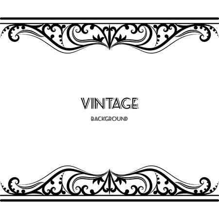 Photo pour vintage background frame design black vector retro - image libre de droit