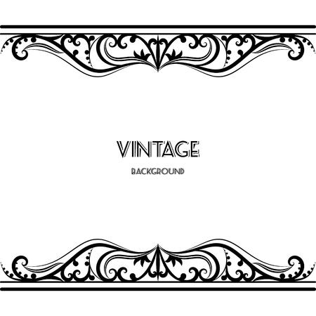 Foto de vintage background frame design black vector retro - Imagen libre de derechos