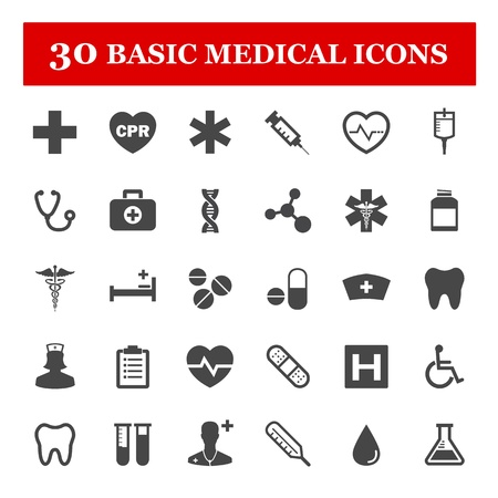 Illustration pour Medical vector icon set - image libre de droit
