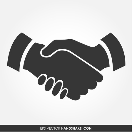 Illustration for Handshake vector icon - business concept - Royalty Free Image