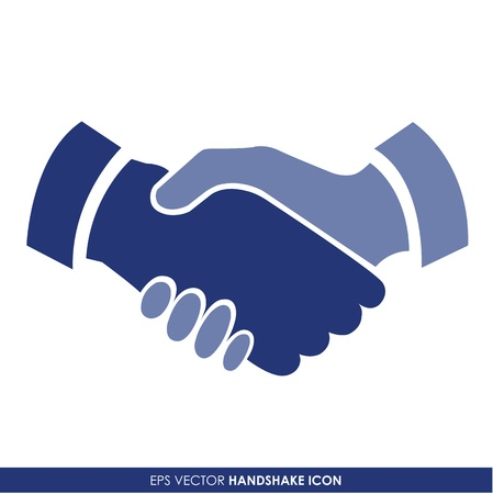 Illustration pour Handshake vector icon - business concept - image libre de droit