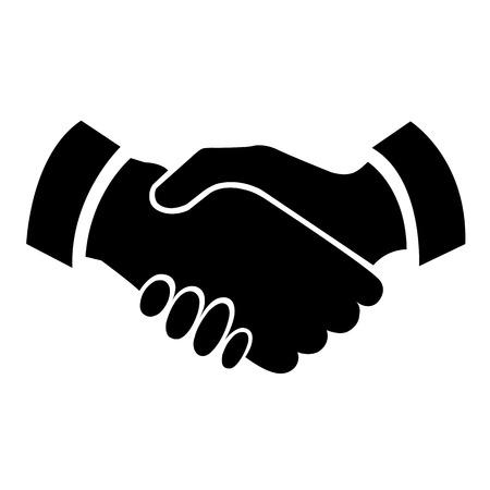 Ilustración de Handshake vector icon - business concept - Imagen libre de derechos