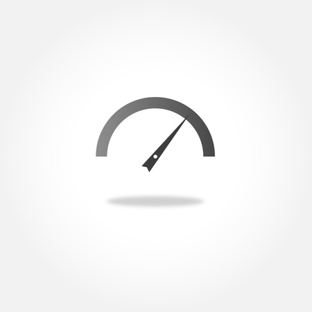 Speedometer or tachometer - vector icon