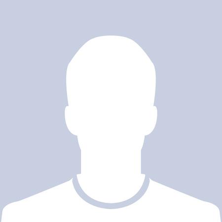 Illustration pour Male silhouette avatar profile picture - image libre de droit