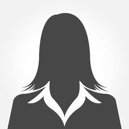 Illustration pour Female avatar silhouette profile pictures - image libre de droit