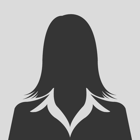 Ilustración de Female avatar silhouette profile pictures - Imagen libre de derechos