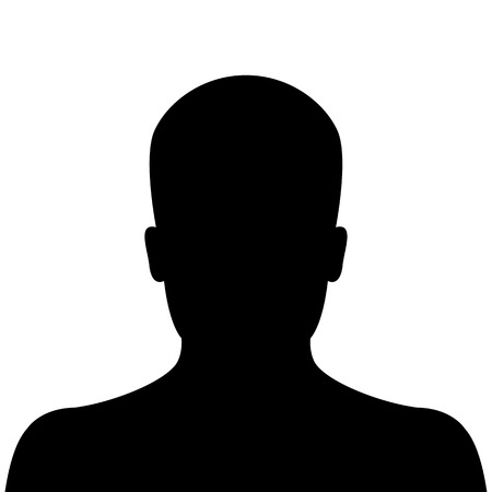Illustration pour Male silhouette avatar profile picture on white background - image libre de droit
