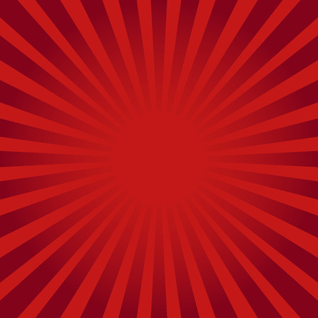Illustration for Red ray sunburst style abstract background - Royalty Free Image