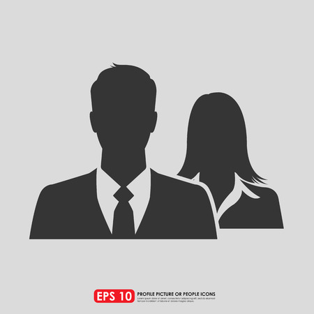 Photo pour Male & female as businesspeople icon  -  couple, partner & teamwork concept - image libre de droit
