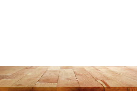 Foto de Wood table top on white background - Imagen libre de derechos