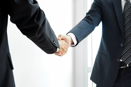 Photo for Handshake of businessmen - success, dealing, greeting & business partner concepts - Royalty Free Image