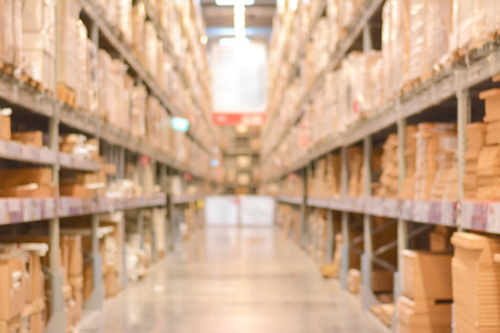 Photo for Blurred warehouse or storehouse as background - Royalty Free Image