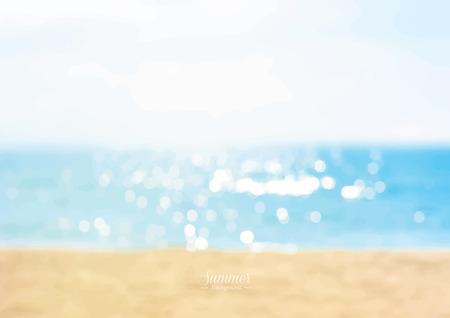Illustration for Summer beach with shiny sparkling sea water background - Royalty Free Image