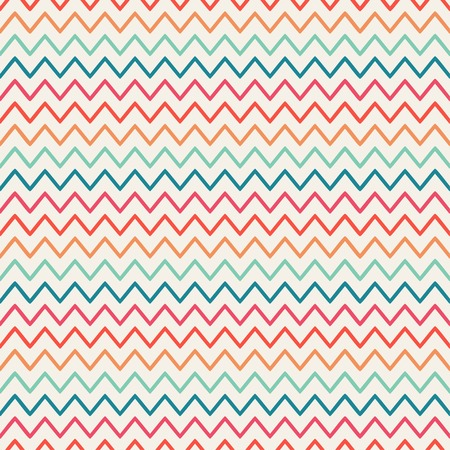 Illustration for Vector retro chevron zigzag stripes geometric seamless pattern. Vintage hipster striped. For wallpaper, pattern fills, web page background, blog. Stylish graphic texture for your design. - Royalty Free Image