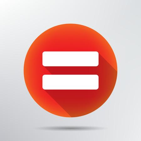 Illustration pour Sign equally icon  - image libre de droit