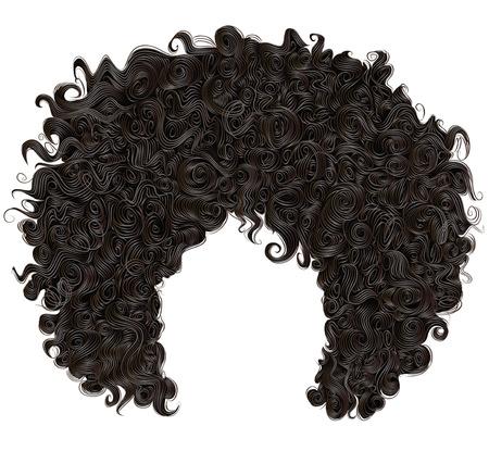 Ilustración de trendy curly african black hair. realistic 3d. fashion beauty style. - Imagen libre de derechos