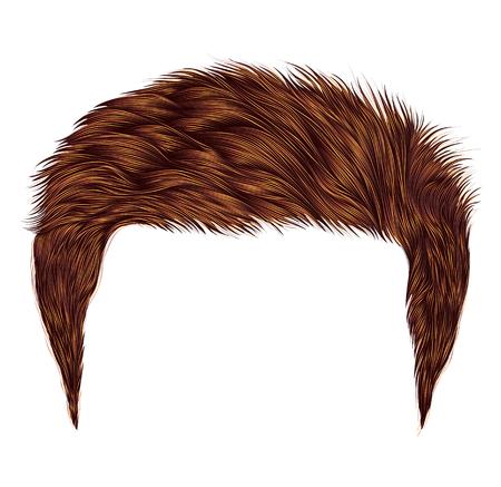 Illustration pour Trendy man red hairs style - image libre de droit