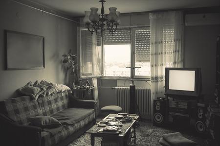 Foto de Old messy room interior, details of a lifestyle. - Imagen libre de derechos