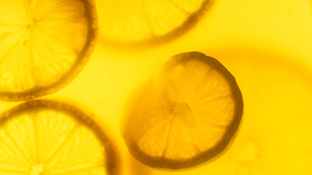 Photo for Closeup abstract photo of freshly cut orange and lemon slices - Royalty Free Image
