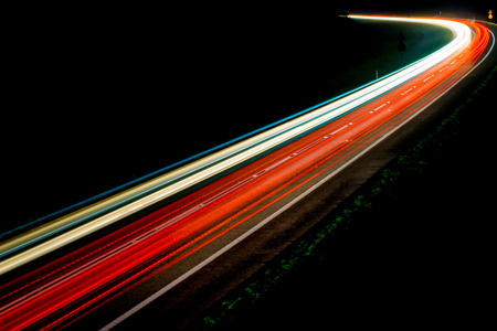 Photo pour lights of cars with night - image libre de droit