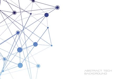 Illustration pour Structure of particles or molecules. Connected line and dots. - image libre de droit