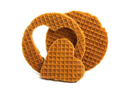 Photo for dutch wafer isolated on white background - Royalty Free Image