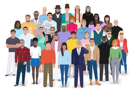 Illustration pour Creative group of different people, flat style, vector illustration - image libre de droit