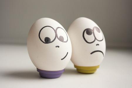 Foto de Pessimist and optimist concept - Imagen libre de derechos