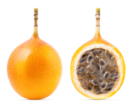 Photo for Granadilla or grenadia passion fruit isolated - Royalty Free Image