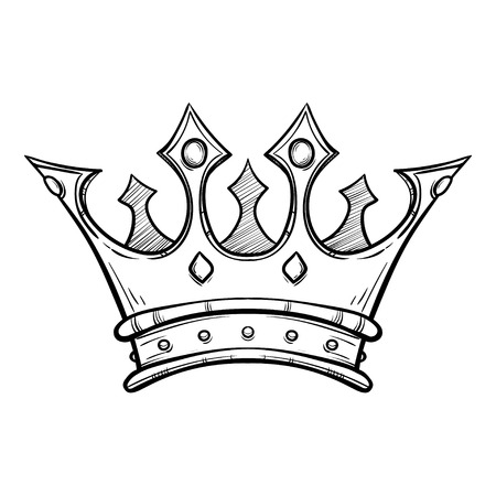 Illustration for Hand drawn King crown - Royalty Free Image