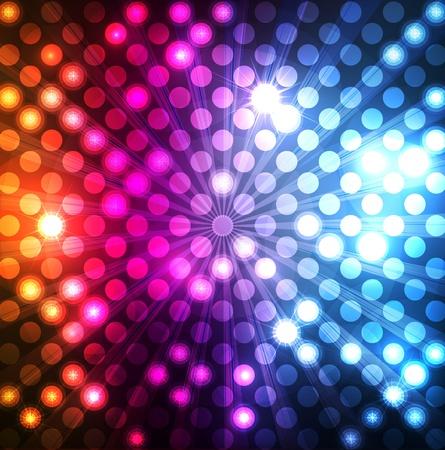 Ilustración de Neon abstract lines design on dark background vector - Imagen libre de derechos