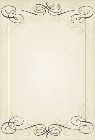 Photo pour Vintage wedding frame vector background card - image libre de droit