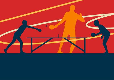 Ilustración de Table tennis player vector abstract background - Imagen libre de derechos