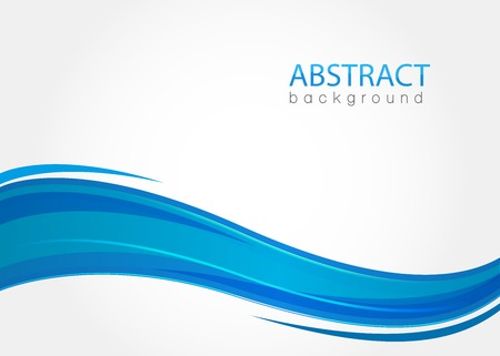 Ilustración de Abstract background with blue waves - Imagen libre de derechos