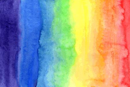 Foto de Abstract watercolor rainbow colors background - Imagen libre de derechos