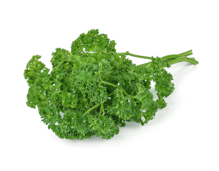 Photo for parsley isolated on white background - Royalty Free Image