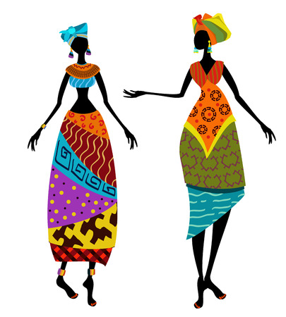 Ilustración de Beautiful African woman in traditional costume - Imagen libre de derechos