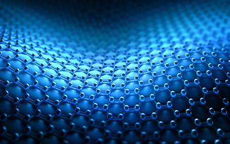 Foto de Several molecules connected, crystallized in the hexagonal system, concept of a carbon structure. - Imagen libre de derechos