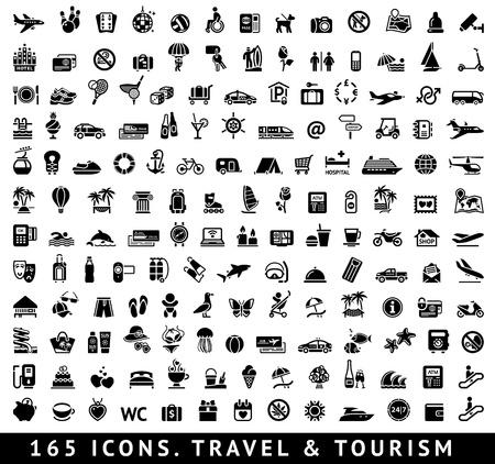 Foto de 165 icons  Travel and Tourism - Imagen libre de derechos