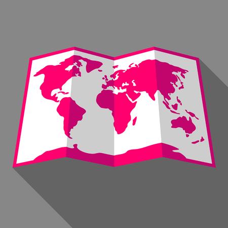 Illustration pour Bright color map of the world. - image libre de droit