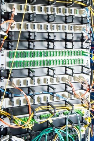 optic fiber hub as part of internet infrastructure