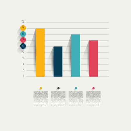 Illustration pour Example of business flat design graph  Infographics chart   - image libre de droit