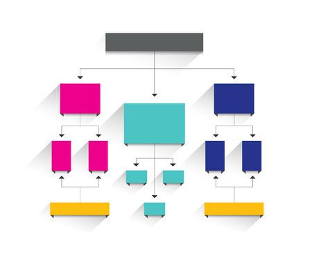 Ilustración de Flowchart diagram, scheme. Infographic element. - Imagen libre de derechos
