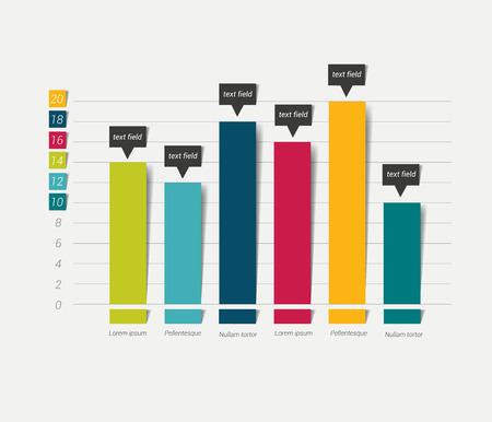 Ilustración de Flat chart, graph. Simply color editable. Infographics elements. - Imagen libre de derechos