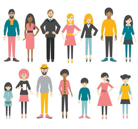 Photo pour Collection of people flat figures. Vector. - image libre de droit