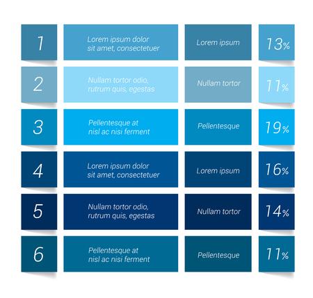 Ilustración de Table, chart, schedule. Infographics elements. - Imagen libre de derechos